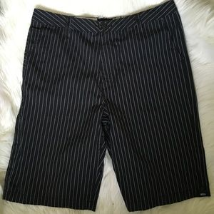 vans pinstripe cotton shorts